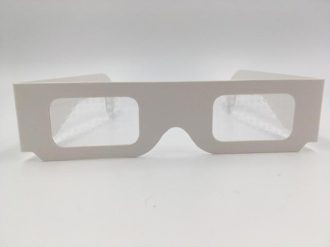 Paper Custom Logo 3d Glasses For Fireworks / Heart / Christmas Tree / Snowman / Spiral