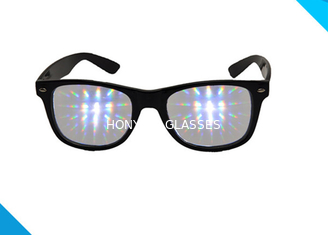 الصين Rainbow Spiral Plastic 3d Diffraction Glasses For New Year Rave Parties المزود